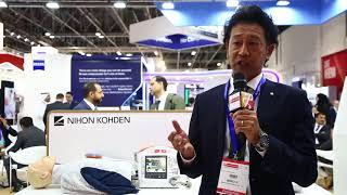 Tomohiko Nasu, Managing Director, Nihon Kohden - Arab Health TV 2018