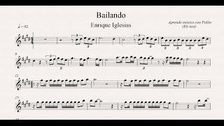 BAILANDO: Eb Inst (saxo alto, saxo barítono...) (partitura con playback)