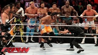 A slew of Superstars battle The Shield in an 11-on-3 Handicap Elimination Tag Team Match: Raw, Sept. width=