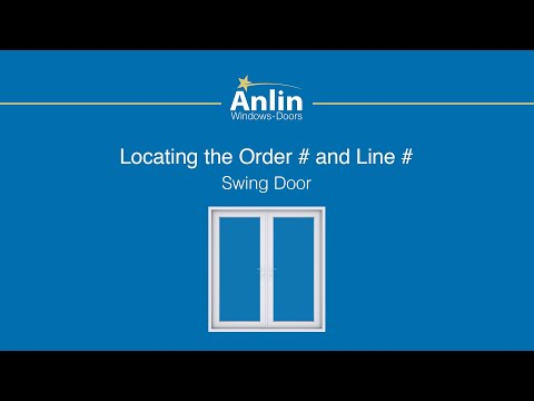 Locating the Order Number on Your Anlin Swing Door