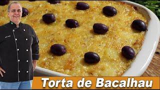 Torta Cremosa de Bacalhau do Chef Taico