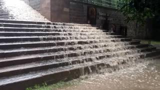 Hatalmas mennyiségű eső zúdult le Egerre