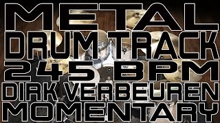Metal Drum Track - 245 BPM - Momentary
