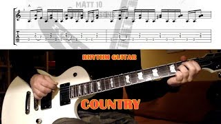 Country Rhythm GUITAR LESSON with TAB