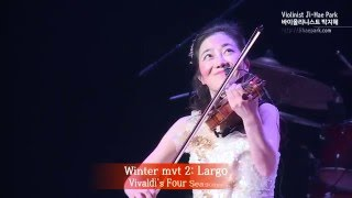 Vivaldi's Four Seasons [ Winter mvt 2: Largo ] - Violinist Ji-Hae Park JHP 바이올리니스트 박지혜, KBS Hall
