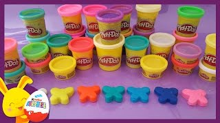 Pâte à modeler Play-Doh pour les enfants -  Coeur et Papillon -Touni Toys - Titounis