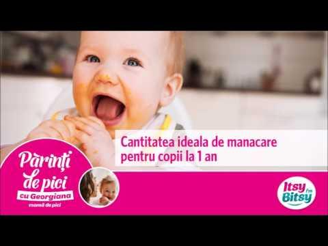 Cantitatea ideala de mancare pentru copii la 1 an