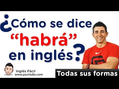 """¿Cómo se dice """"habrá"""" en inglés""""? - Todas sus formas."""