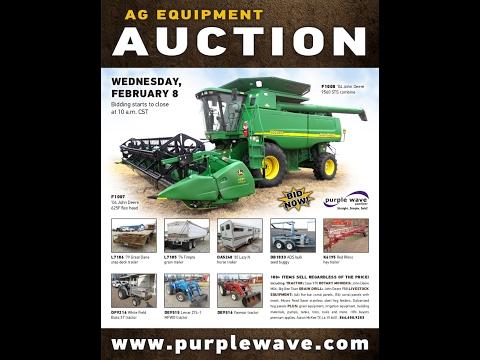 Ag equipment auction | February 8, 2017 | Purple Wave