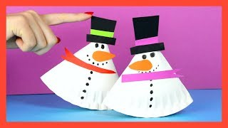 Rocking Snowman Paper Plate Craft for Kids