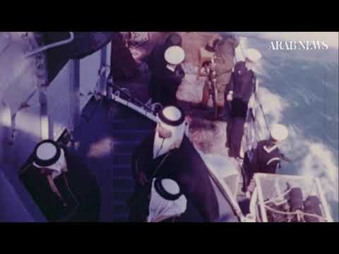 Saudi Arabia's King Abdul Aziz's voyage to meet US President Franklin D. Roosevelt