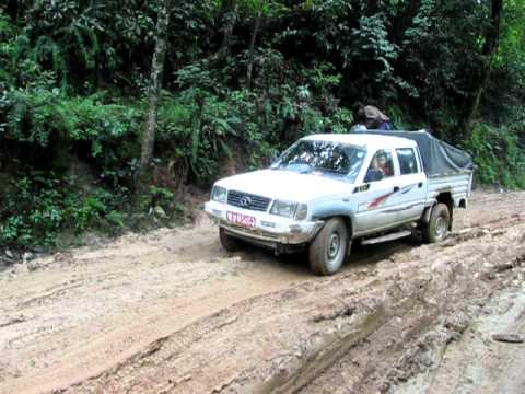 Muddy Backcountry Road in Nepal