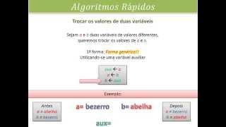 Algoritmos Rápidos - 01 - Trocar os valores de duas variáveis