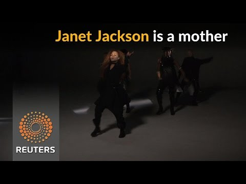 Janet Jackson announces the birth of her first child
