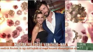 Chris Hemsworth magyar származású felesége sosem járt még Magyarországon - tv2.hu/mokka