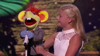Darcy Lynn's new puppet has a crush on Mel b Americas got talent quarter finals