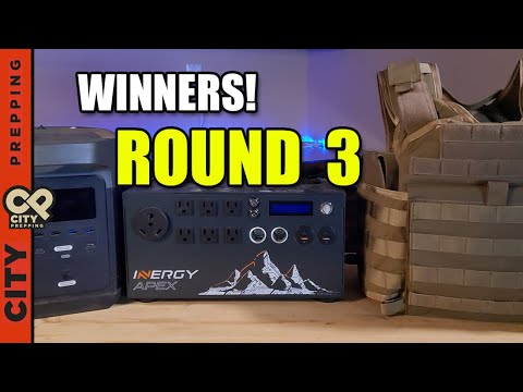 12 Days Giveaway Winners - RTS Body Armor, Ecoflow Delta, Inergy Apex