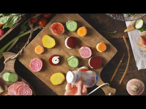 Gemüse-Macarons mit Arla Buko Frischkäsecreme