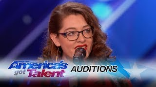 Mandy Harvey: Deaf Singer Earns Simon's Golden Buzzer With Original Song - America's Got Talent 2017 width=