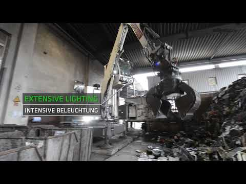 SENNEBOGEN 817 E Stationary Electro - Recycling of old electrical appliances at Remondis in Germany