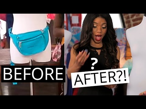 DIY FANNY PACK CHALLENGE?!   Fashion One on One w/ Teala Dunn