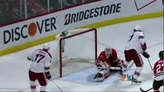 Oliver Ekman-Larsson goal. Phoenix Coyotes vs Chicago Blackhawks 4/23/12 NHL Hockey