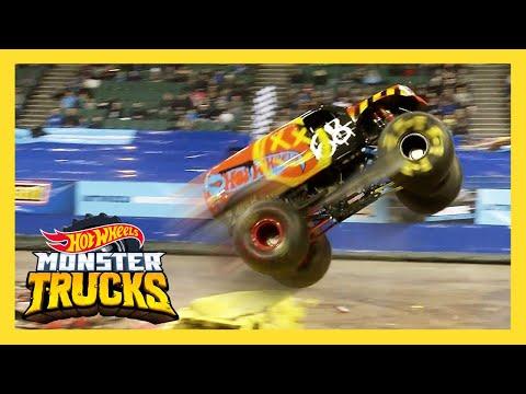 Top 10 BEST Monster Trucks Live FREESTYLE moments! | Monster Trucks Live | Hot Wheels