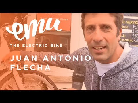 Electric Bikes - Tour De France Star - Juan Antonio Flecha gets excited about Emu Electric Bikes