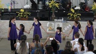 """Corpo de dança infantil da IBIPV,  dançando o louvor """"Meu melhor amigo"""" de 3Palavrinhas."""