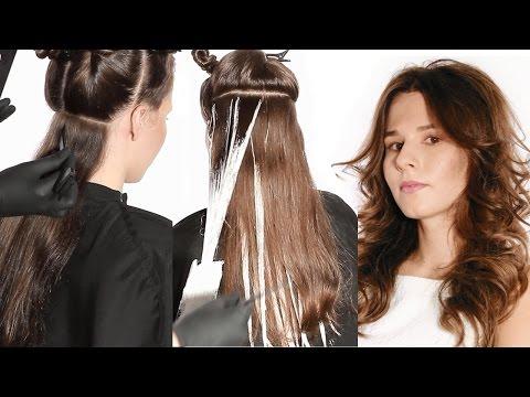 Окрашивание волос  ✄ Техника Балаяж ✄ Как покрасить волосы photo