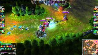 Thresh Hook on Rengar in Stealth mode (ult)
