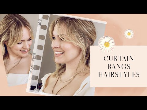 9 Hairstyles for Curtain Bangs – Kayley Melissa