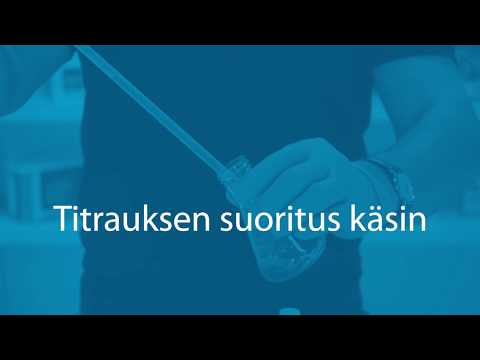 Titrauksen suoritus käsin [English & Swedish subtitles]