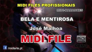 ♬ Midi file  - BELA E MENTIROSA - José Malhoa