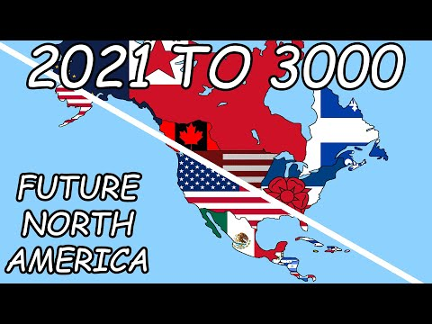 Alternate Future of North America from 2021 to 3000 (by GyLala)