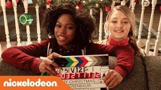 BTS of 'Tiny Christmas' Movie 🎅🏻   w/ BFF's Lizzy Greene & Riele Downs | Nick