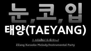 태양(TAEYANG)-눈, 코, 입(Eyes, Nose, Lips)(-1키)(Instrumental) [MR/노래방/KARAOKE]