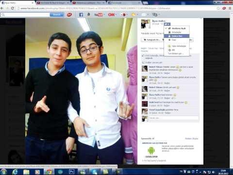 Facebook fotoğraf gizleme