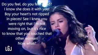 Selena Gomez Good For You Live Reversed With Lyrics