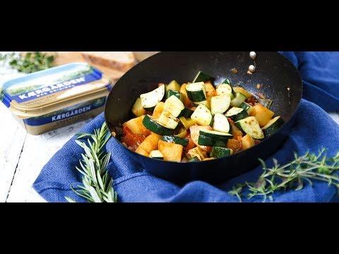Einfaches Rezept: Mediterrane Gemüsepfanne mit Kærgården