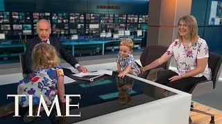 The Internet Is Really Enjoying This Cute Child Who Totally Commandeered An Interview | TIME