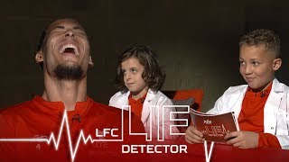 Van Dijk takes Lie Detector Test | 'Ever picked your nose and eaten it?' | Kop Kids