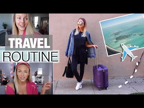 Airplane/Travel Routine: Makeup, Carry-On + Outfit!