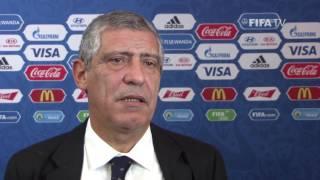 Fernando Santos reaction to FIFA Confederations Cup Official Draw