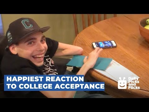 Guy in Wheelchair Reacts to College Acceptance Letter