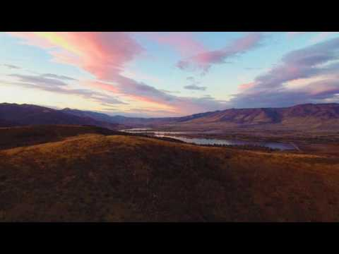 Trappers Loop Sunset by Drone