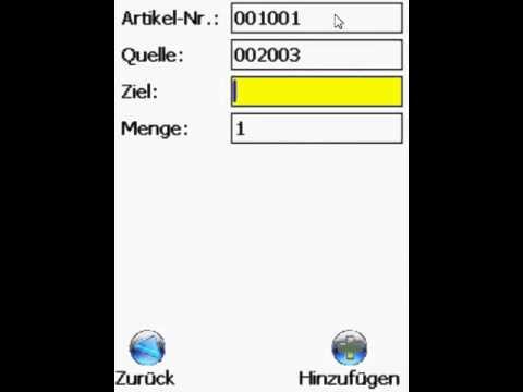 Software für die Lagerplatz Umbuchung