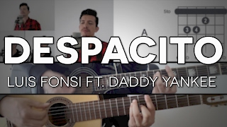 Despacito Luis Fonsi - ft. Daddy Yankee Tutorial Cover - Guitarra [Mauro Martinez]