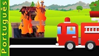 Carro de bombeiros e fogo | vídeos para crianças | vídeos para crianças