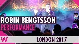 "Robin Bengtsson ""I Can't Go On"" (Sweden 2017) LIVE @ London Eurovision Party 2017"